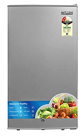 Mitashi 87 L 2 Star Direct Cool Single Door Refrigerator(MSD090RF100, Silver)