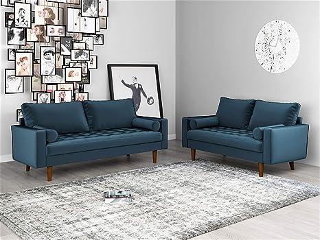 Meuble De Salon Moderne En Velours Capitonne Amazon Ca Maison Et