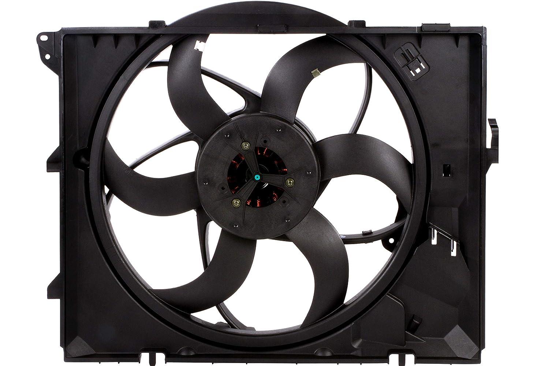 BOXI 400 Watts Engine Cooling Fan Assembly with Auto Transmission For BMW E90 128i 325i 325xi 328i 328i xDrive 328xi 330i 330xi Z4 17427523259,17117590699