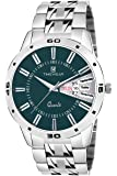 TIMEWEAR Anlog Green Dial Day Date Watch for Men