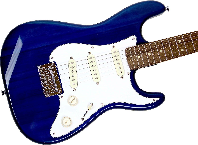 Squier por Fender Stratocaster Pack de escala corta con Frontman 10G Amp, cable, correa y púas, color azul: Amazon.es: Instrumentos musicales