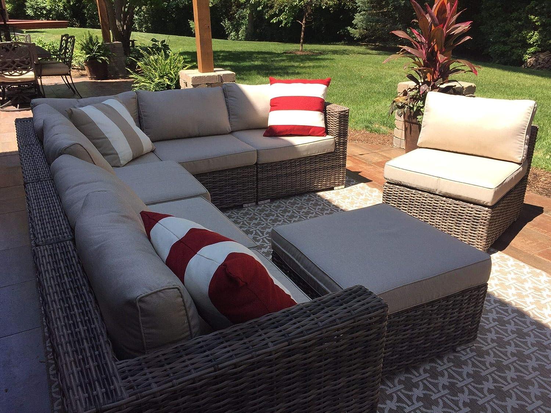 Amazon.com: Wicker Patio Furniture Conversation Set No Assembly