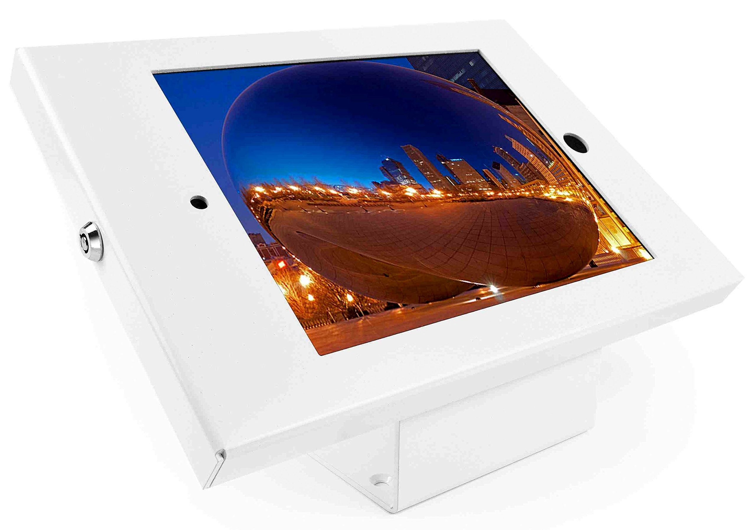 Maclocks 101W202ENW Full Metal Jacket Kiosk with 45-Degree Mount for iPad 2/3/4, iPad Air, iPad Air 2 (White)