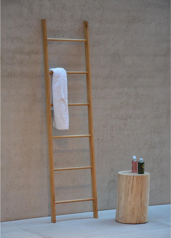 Jan Kurtz Hop toallero Madera Roble. Hop Toalla Escalera Abierto 6 Travesaños, 46 x 176 cm Interior y Exterior UNIKATE 490101: Amazon.es: Hogar