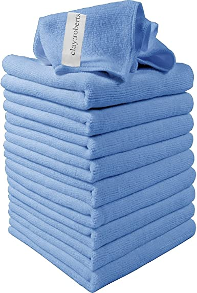 Motorbike Domestic Appliances Washable Cloth Duster for Car Chemical Free Cleaning Large Super Soft Premium Fibre Microfibre Cloths Similar to Exel Magic Cleaning Cloths Industrial use Blue, 10