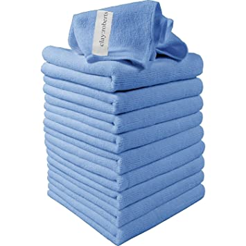 Microfibre Cleaning Cloths, 10 Pack, Blue, Soft Microfibre Dusters ...