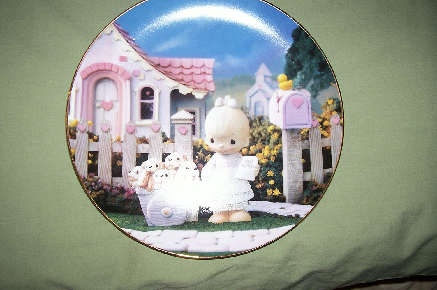 Precious Moments Plate - God Loveth A Cheerful Giver - 1993