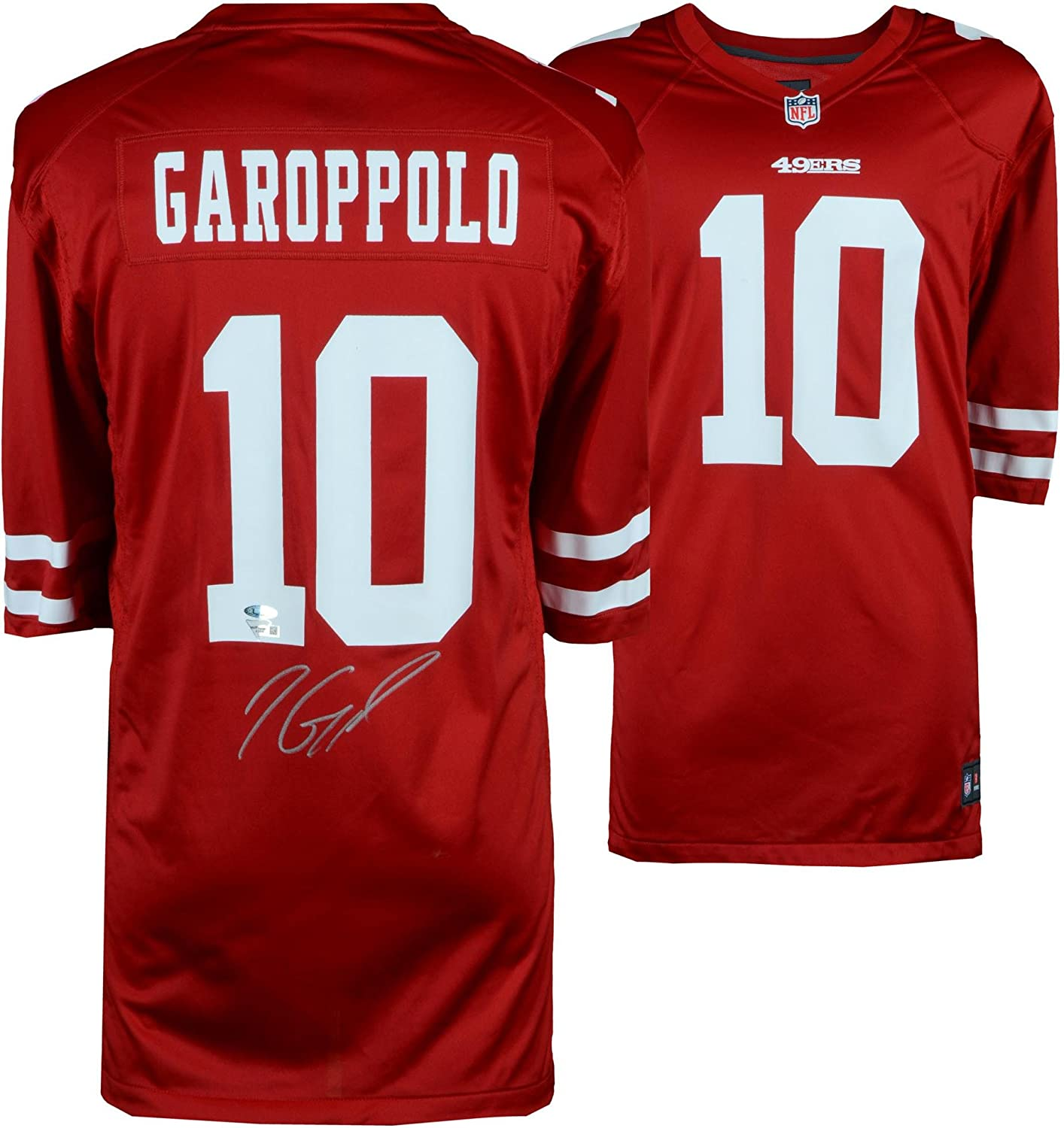 Jimmy Garoppolo San Francisco 49ers Autographed Red Nike Game Jersey - Autographed NFL Jerseys