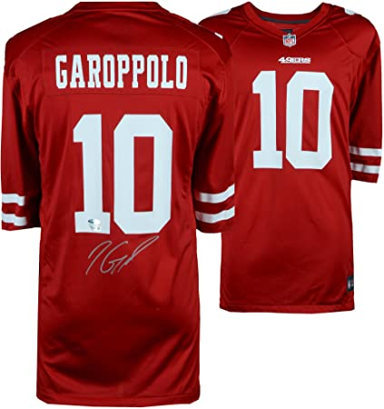 detailed look 1cac3 26c8a Jimmy Garoppolo San Francisco 49ers Autographed Red Nike ...