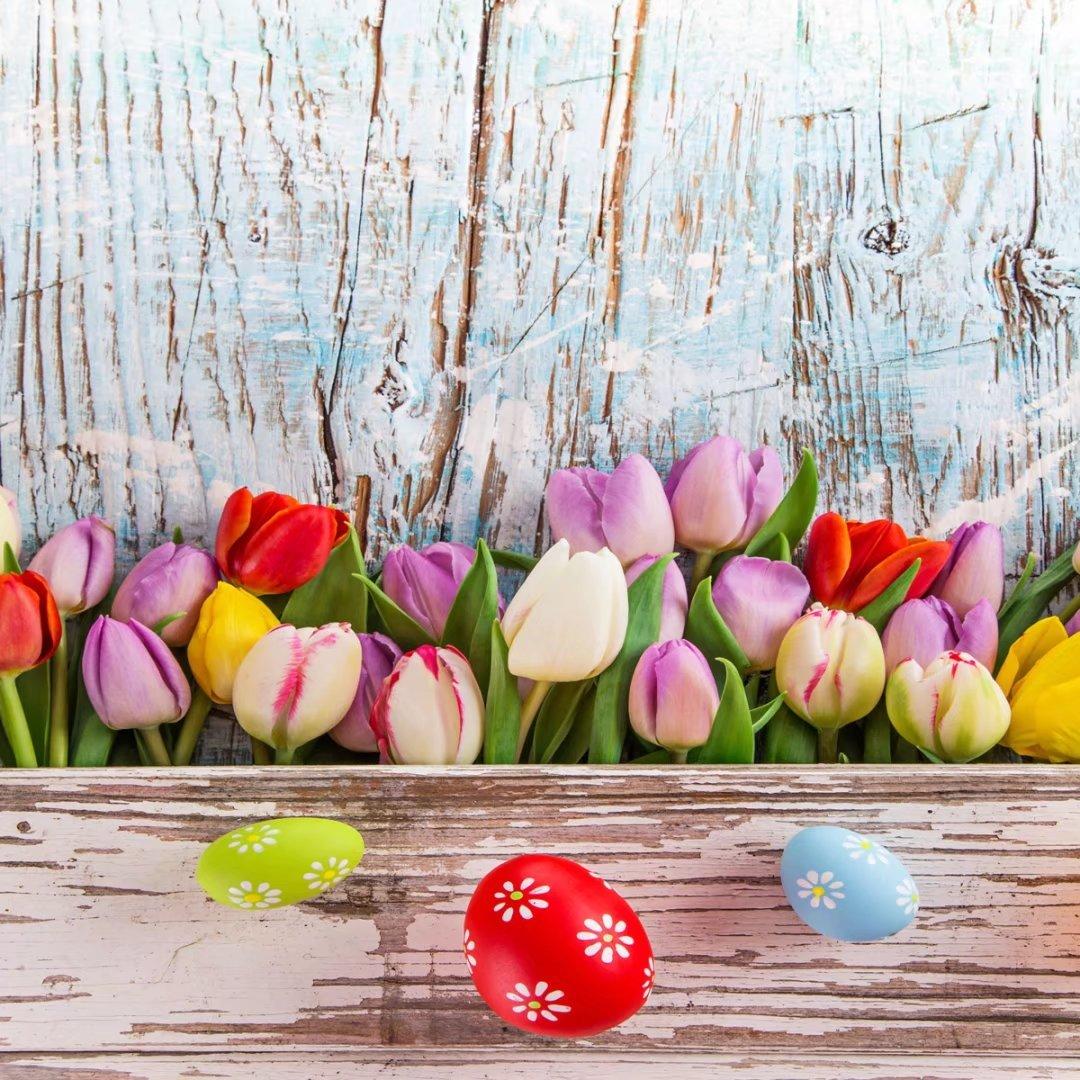 イースター写真背景グリーンウサギ花Backdrops卵パーティー装飾写真ブース小道具 10x10ft TY1919-J03121-t 10x10ft Easter2 B0785L2CQQ