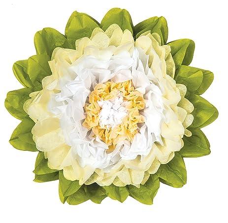 Amazon luna bazaar giant tissue paper flower 24 inch white luna bazaar giant tissue paper flower 24 inch white ivory mightylinksfo