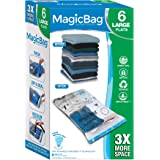 Smart Design MagicBag Instant Space Saver Storage - Flat Large - Airtight Double Zipper - Vacuum Seal - Clothing, Pillows - H