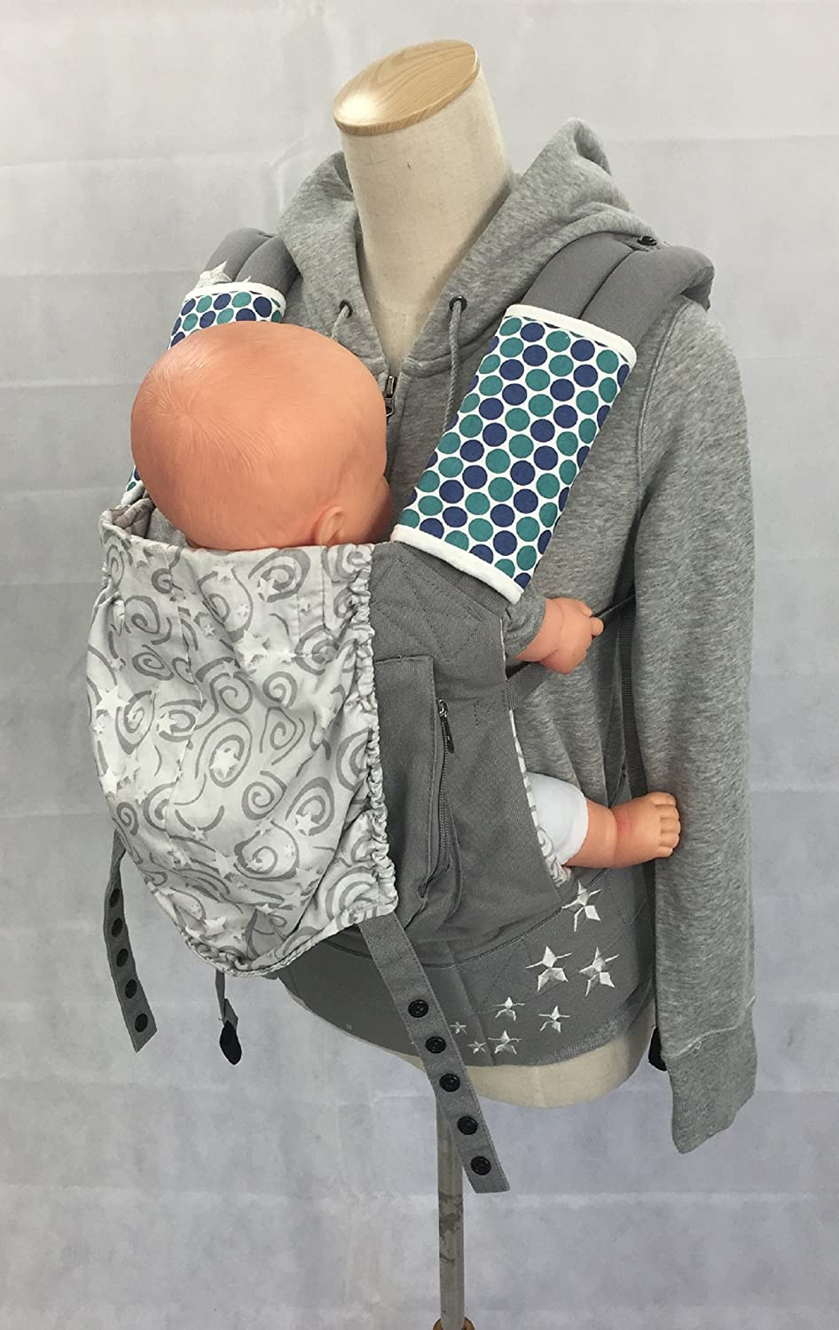 Purple Circus 【angelette】Baby Carrier Reversible Sucking Pad//Car Seat Strap Covers//Stroller Belt Covers//Drool Pad//Teething Pad