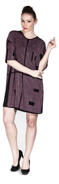 H眉seyin K眉c眉k Women's Tunic Checkered Round Collar Blouse