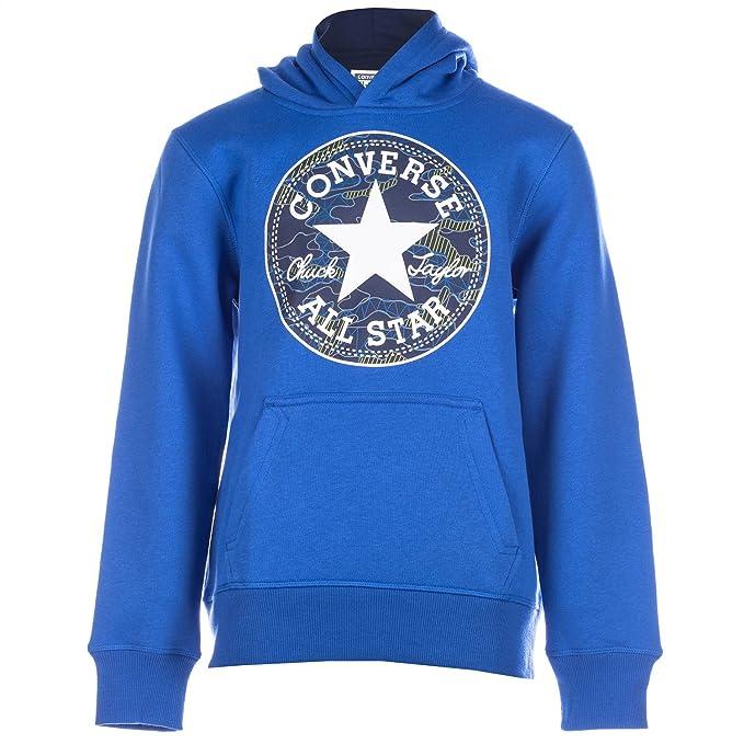 648340e9d8ae6 Converse Boys Junior Boys Chuck Print Pullover in Blue - 10-12  Converse   Amazon.co.uk  Clothing