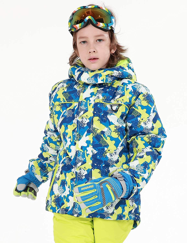 PHIBEE Big Boy's Waterproof Breathable Snowboard Ski Jacket : Clothing