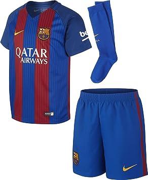 Nike FCB LK HM Kit Conjunto Deportivo, Niños, Azul (Sport Royal/Gym Red/University Gold), M: Amazon.es: Deportes y aire libre