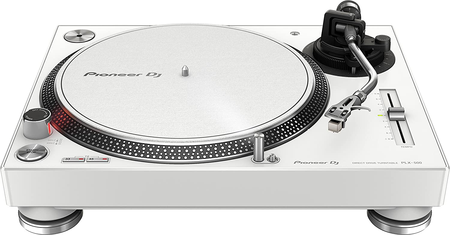 dc39d8706d1 Amazon.com  Pioneer PLX-500-W Direct Drive Turntable - White Bundle with DM- 40 Active Monitors and Austin Bazaar Polishing Cloth  Musical Instruments