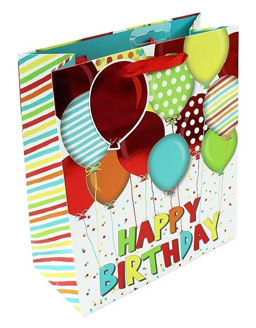 Herren Große Geschenk Tasche Geburtstag Luftballons Geschenkpapier