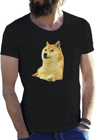 KoalaCovers Shiba Inu Doge Fun Negro Camiseta para Hombre X Large: Amazon.es: Ropa y accesorios