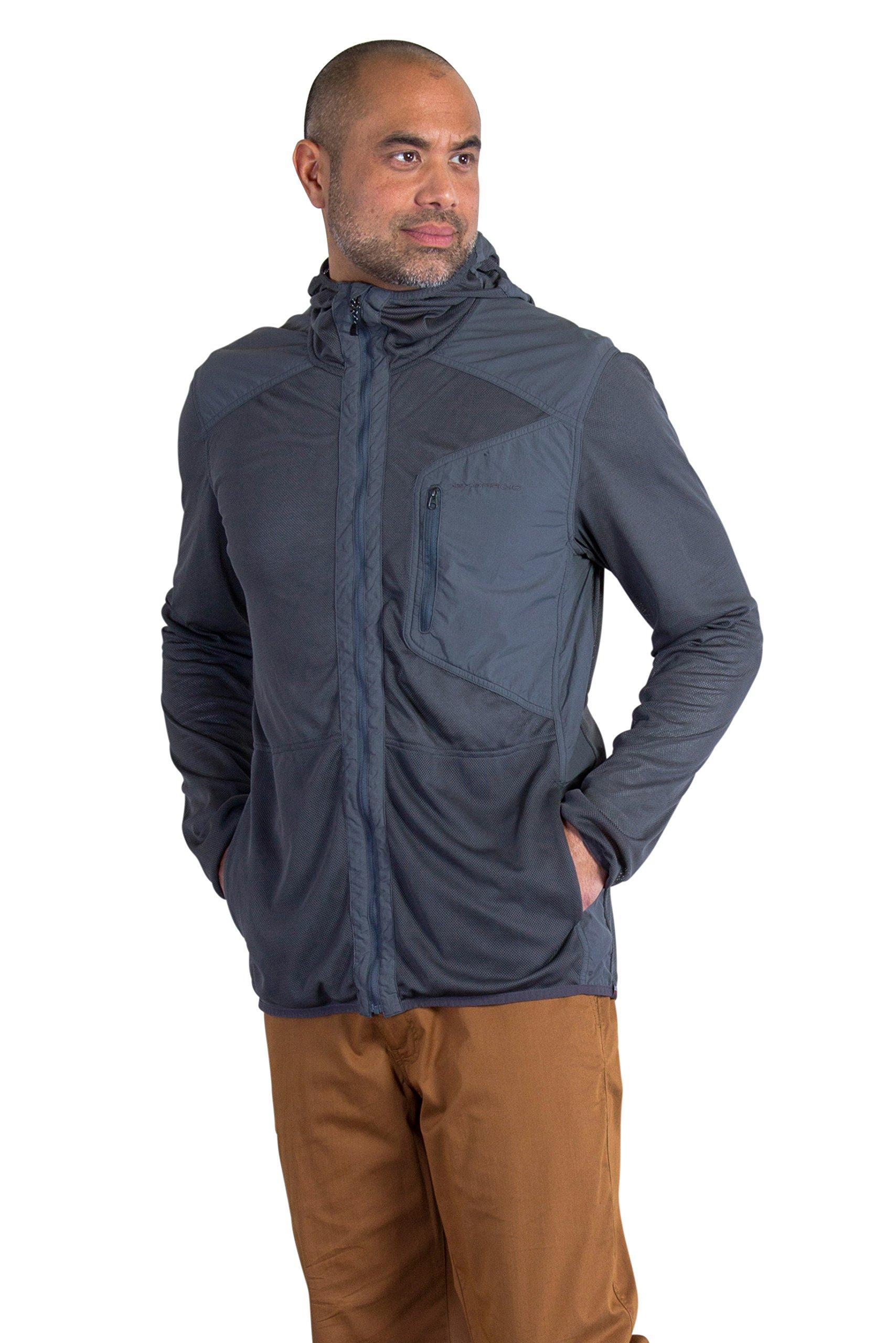 ExOfficio Men's BugsAway Sandfly Lightweight Jacket-Insect, Tick, Mosquito Repellent Permethrin Clothing