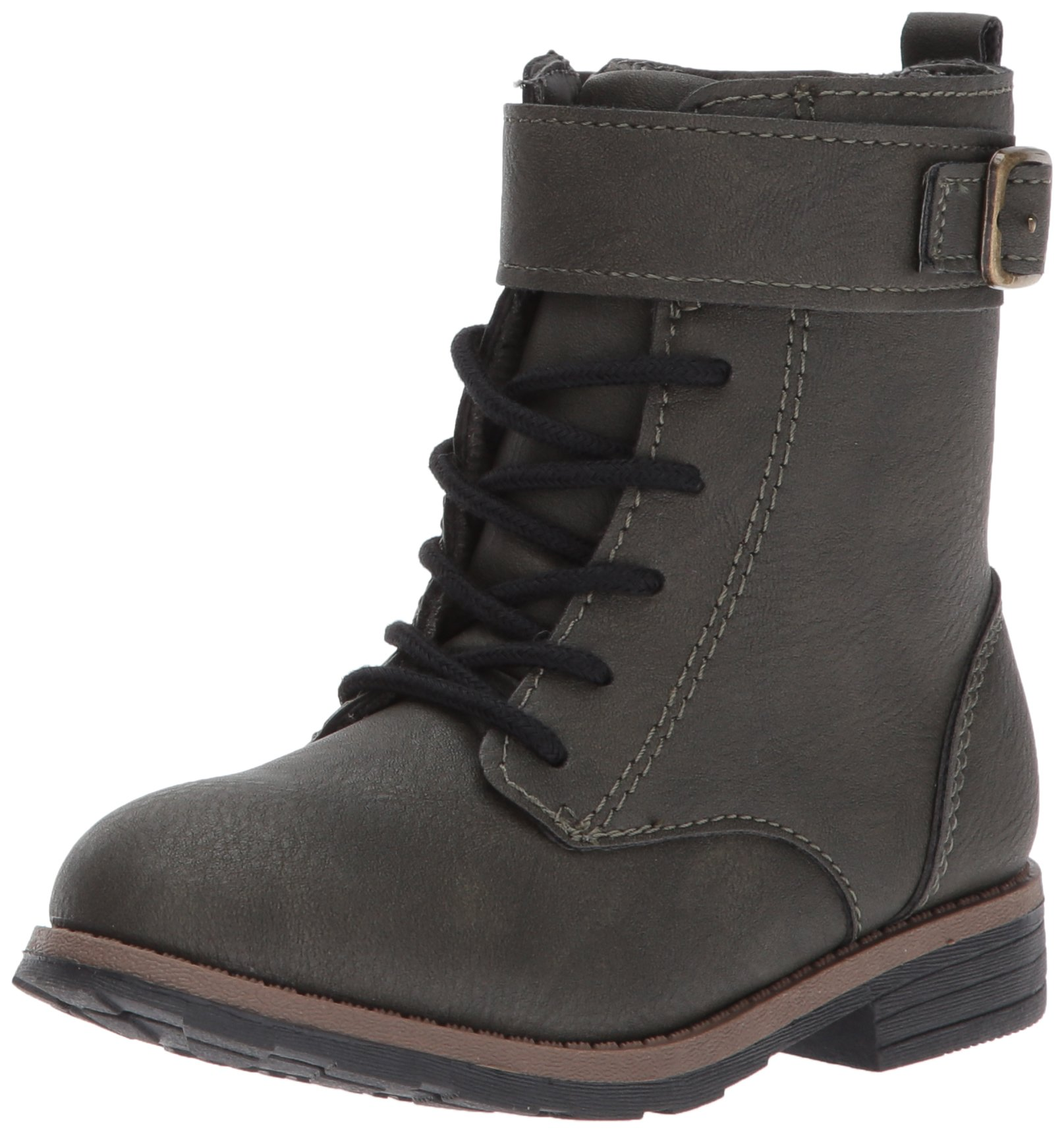 Carter's Girls' Comrade2 Fashion Boot, Olive, 12 M US Little Kid
