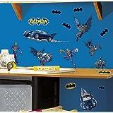 RoomMates Batman Gotham Guardian Peel and Stick Wall Decals - RMK1148SCS,Multicolor