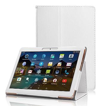 XIDO Funda para Tablet 10 Pulgadas BEISTA/ LNMBBS/ YUNTAB K107 K17 - Slim Fit Folio Cubierta Carcasa Caso con Stand Función para Tablet 10.1 Pulgadas ...
