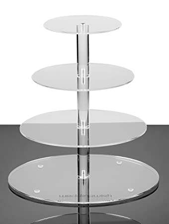 Amazon Com Weddingwish Tier Round Cake Stand Plastic Acrylic