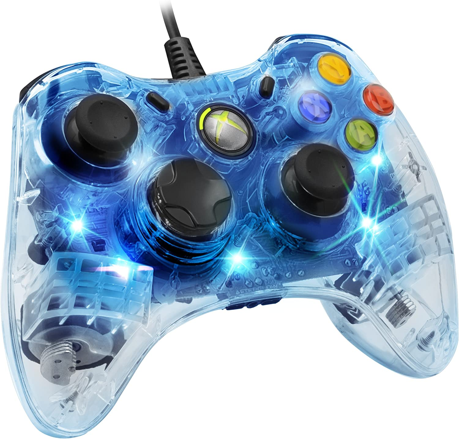 Amazon.com: Afterglow Wired Controller for Xbox 360 - Blue: Video Games
