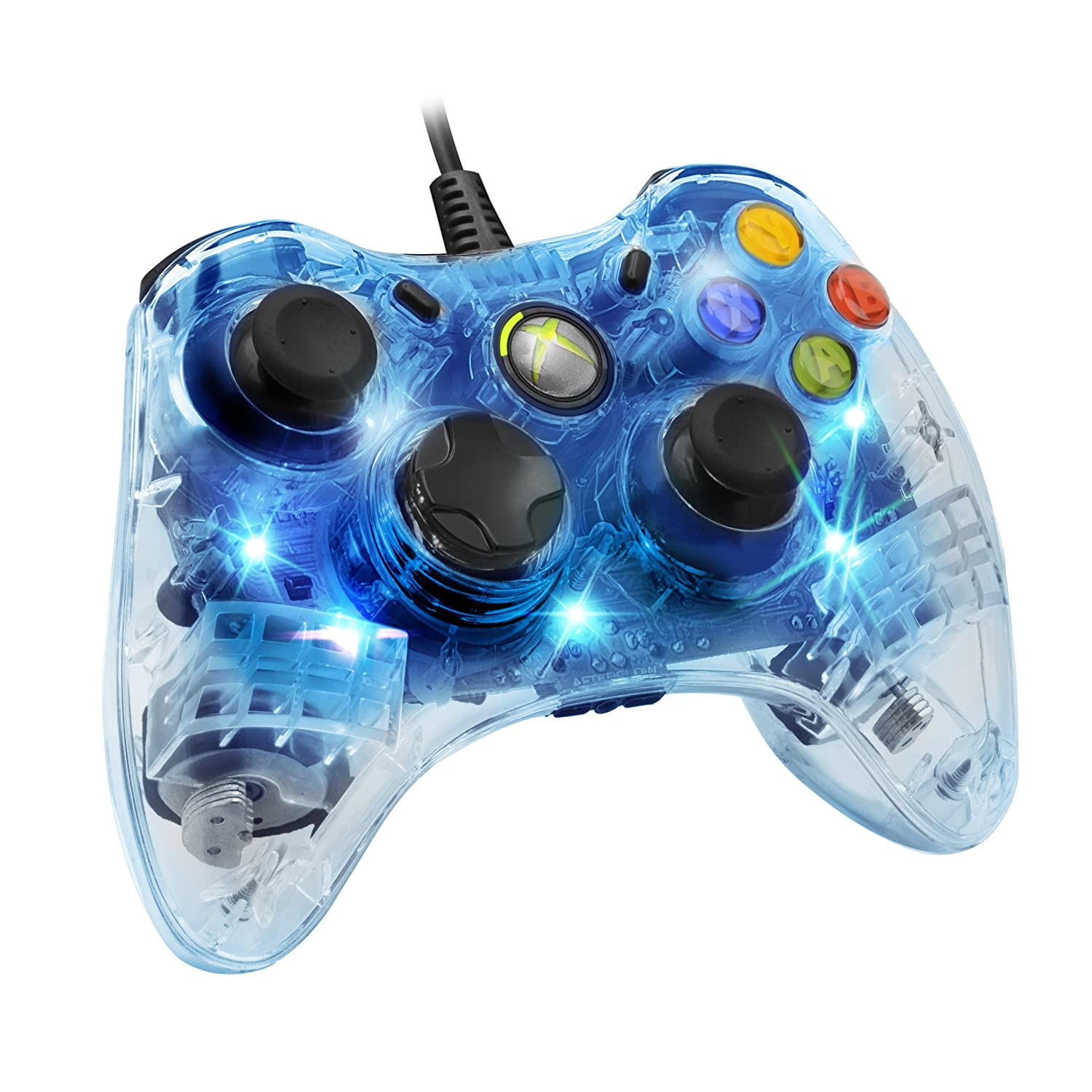 PDP Afterglow Wired Controller: Blue for Xbox 360: Amazon.co.uk: PC ...