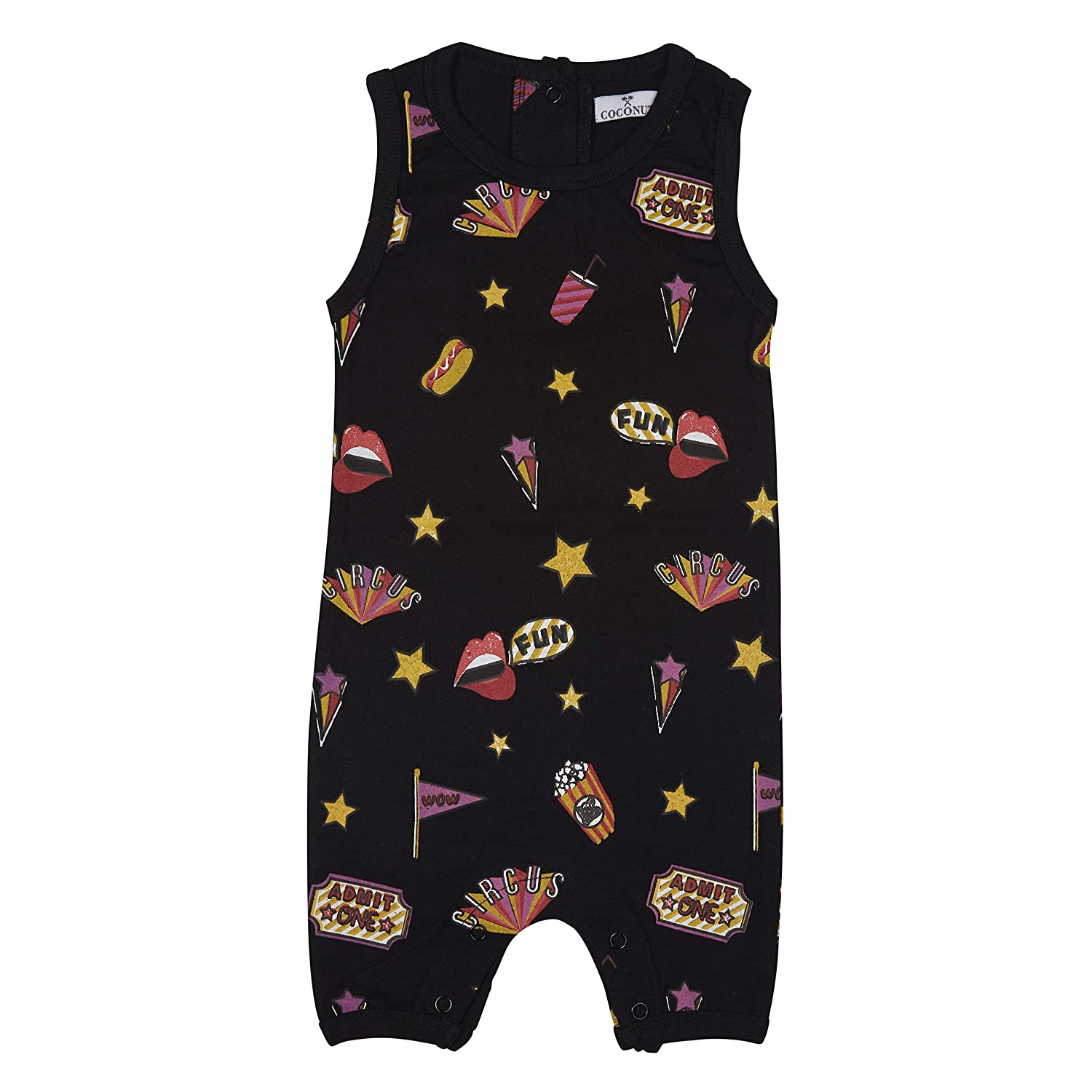 Coconut Cotton Unisex Baby//Toddler Circus Romper