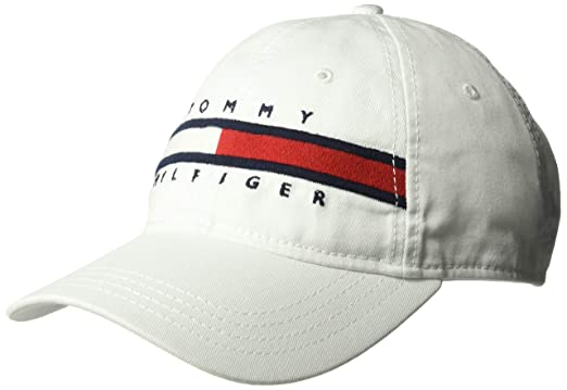 74f8acde Tommy Hilfiger Men's Dad Hat Avery, Classic White O/S at Amazon Men's  Clothing store: