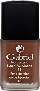 product image for Gabriel Cosmetics, Moisturizing Liquid Foundation, Natural, Paraben Free, Vegan, Gluten-free, Cruelty-free, Non GMO, Infused with Vitamins A & E, Full coverage, (Truffle)