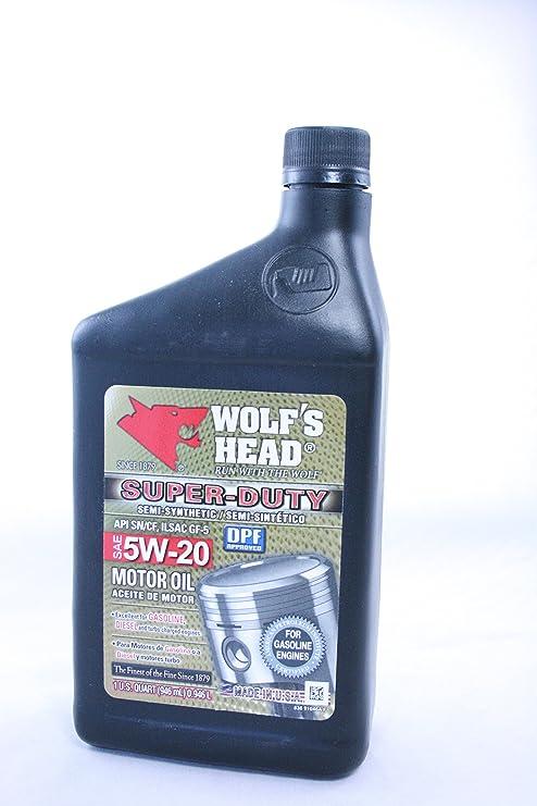 La cabeza del lobo Super Duty SAE 5 W-20 aceite de motor simi –