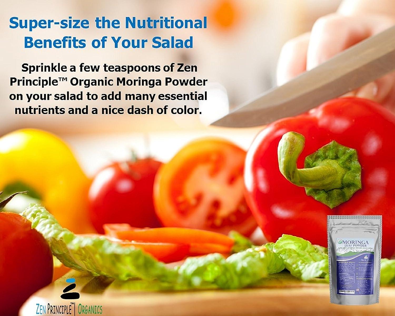Amazon.com: Zen Principle Organic Moringa Leaf Powder,USDA ...