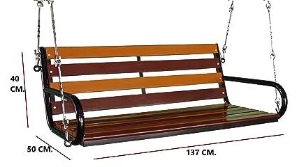 Kaushalendra Garden Zula Wooden Hanging Swing Teak Set 137 cm