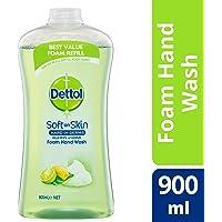 Dettol Touch of Foam Hand Wash Lemon & Lime Anti-Bacterial Refill, 900ml