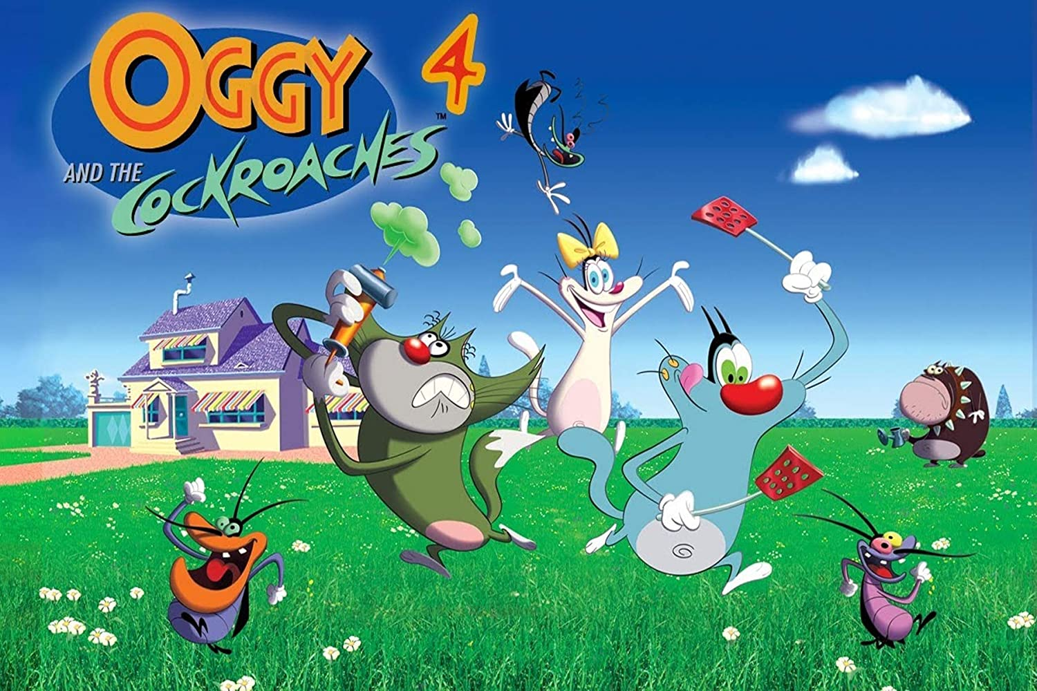 Yellow Alley Oggy And The Cockroaches Cartoon Brave Warrior
