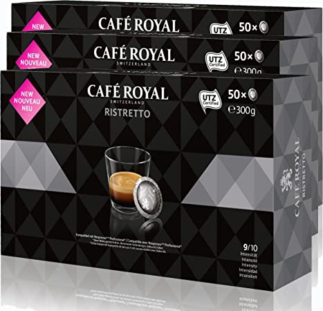 CAFÉ ROYAL Office Pads Ristretto Café, Café Tostado, Sistema de Cápsulas, Nespresso Professional Compatible, 150 Pads: Amazon.es: Hogar