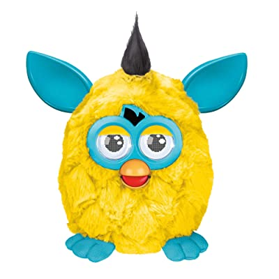 Furby Plush, Yellow/Teal: Toys & Games