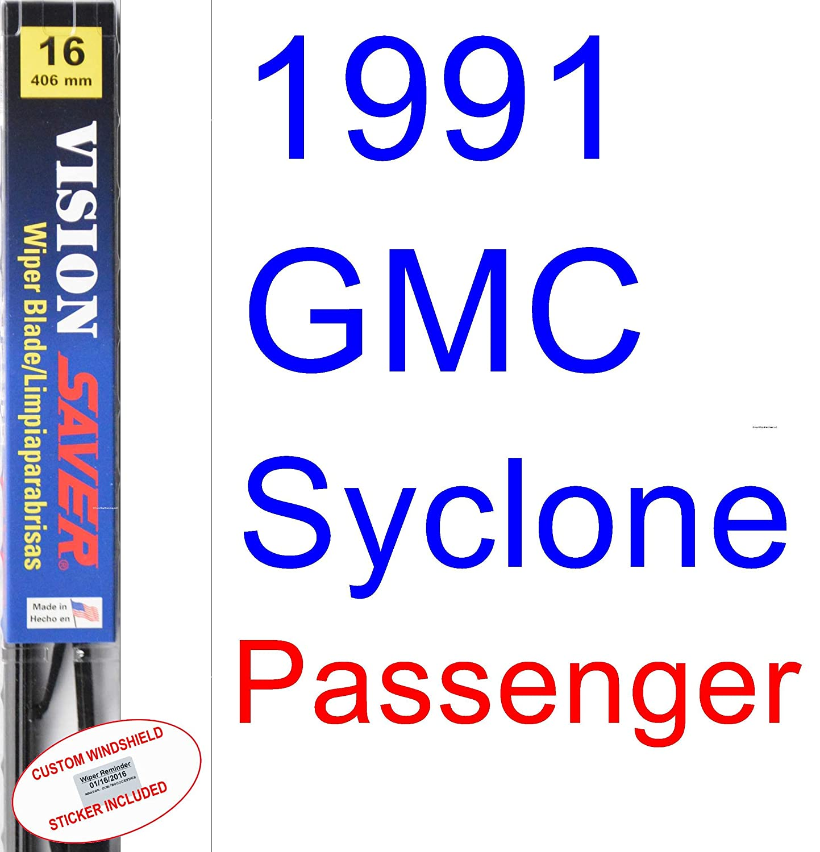 Amazon.com: 1991 GMC Syclone Wiper Blade (Driver) (Saver Automotive Products-Vision Saver): Automotive