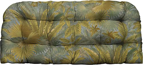 RSH D cor Indoor Outdoor Tufted Love Seat Wicker Cushion 41″x19″ Patio Weather Resistant Choose Color Tommy Bahama Bahamian Breeze Surf
