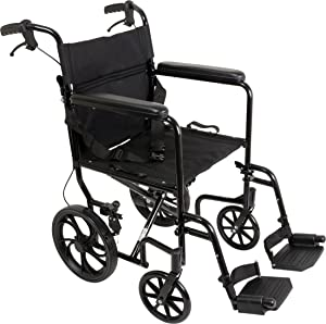 ProBasics Aluminum Transport Wheelchair With 19 Inch Seat