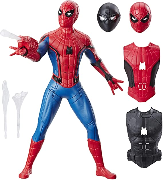 Spider-Man: Far from Home Deluxe 13-Inch-Scale Web Gear Action Figure with Sound FX