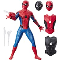 Spider-Man: Far From Home Deluxe 13-Inch-Scale Web Gear Spider-Man Action Figure with Sound FX, Suit Upgrades, and Web Blaster Accessory