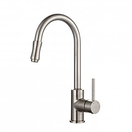 Kraus KPF 1622SN Single Lever Pull Down Kitchen Faucet Satin Nickel