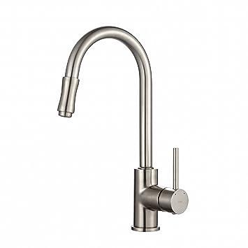 Kraus Kpf 1622sn Single Lever Pull Down Kitchen Faucet Satin Nickel