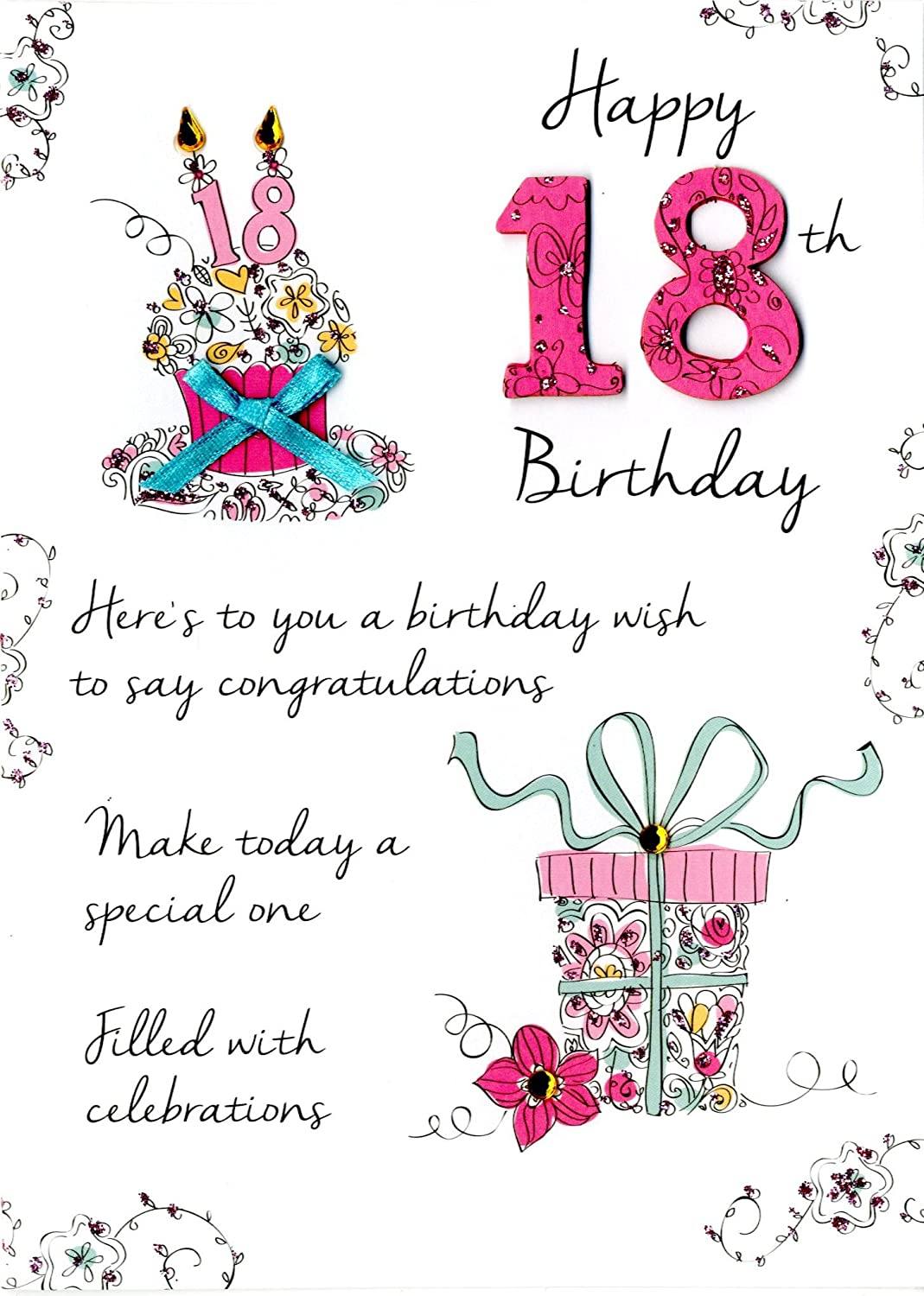 18th birthday card male and female selection happy 18th birthday card