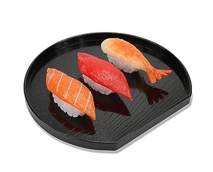 Bandeja de servir de lacado japonés para Sushi Sashimi, té o sake, 14 cm